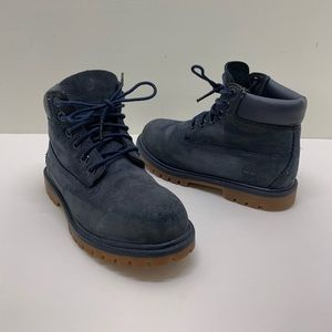 Toddlers timberland boots size 12c navy blue